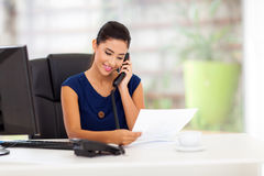 Businesswoman on telephone Stock Image