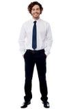 Smart young entrepreneur in formals Stock Photos
