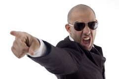 Smart young executive shouting Royalty Free Stock Photos