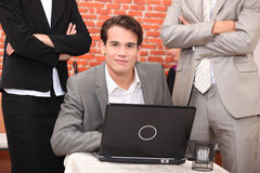 Smart young man Royalty Free Stock Photo