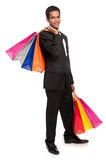 Smart Young Man with Shopping Bags. Royalty Free Stock Image