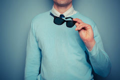 Smart young man with sunglasses Royalty Free Stock Photos