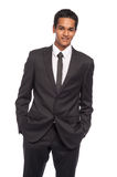 Smart Young Man Wearing Black Suite. Royalty Free Stock Image