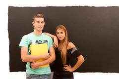 Smart young man and woman Royalty Free Stock Image