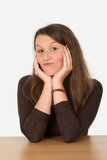 Smart young woman Royalty Free Stock Images