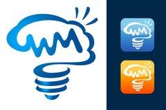 Smarta Brain Logo stock illustrationer