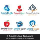 Smarta Logo Template Design Vector Royaltyfri Illustrationer