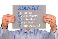 SMARTA mål Fotografering för Bildbyråer