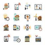 Smarta symboler för husteknologisystem vektor illustrationer