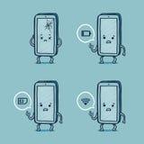 Smarta telefonproblem för herr Royaltyfria Bilder