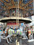 Carousel at the fair. Horse stock photos