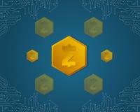 SmartCash-Hintergrundart für blockchain Stockfotografie