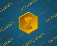 SmartCash-Hintergrundart für blockchain Lizenzfreies Stockfoto