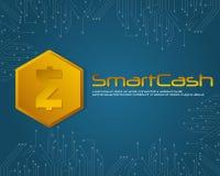 SmartCash-Hintergrundart für blockchain Lizenzfreies Stockbild
