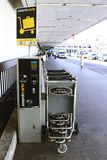 SmarteCarte paying luggage carts Royalty Free Stock Image