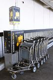 SmarteCarte paying luggage carts Stock Image