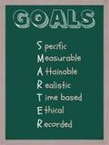 Smarter Goals Blackboard Stock Photo