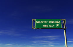 Smarter Thinking - Freeway Exit Sign Stock Images
