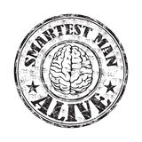 Smartest man alive stamp Royalty Free Stock Images