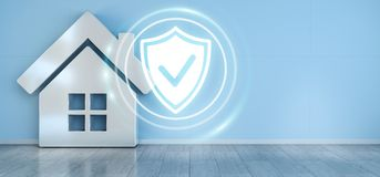 Smarthome security interface 3D rendering Royalty Free Stock Photo