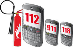 smarthpone αριθμών έκτακτης ανάγκη&sigmaf Στοκ εικόνες με δικαίωμα ελεύθερης χρήσης