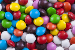 Smarties. Abstract candies close up photo - multicolor smarties Royalty Free Stock Photos