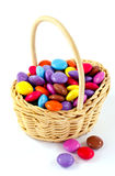 Smarties in a basket Royalty Free Stock Photo