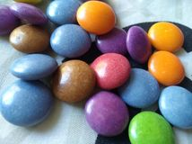 Smarties. Bright colours of smarties Royalty Free Stock Images