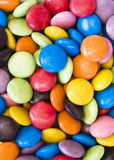 Smarties Candy Buttons. Background image of sweet smarties or chocolate buttons Stock Photos