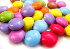 Smarties chocolate. Multi colored smarties chocolate bonbons Royalty Free Stock Photo