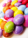 Smarties chocolate. Multi colored smarties chocolate bonbons Royalty Free Stock Images