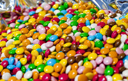 Smarties, coloured chocolate candies Stock Images