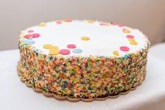Smarties Delicious cake Closeup royalty free stock photos