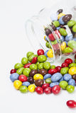 Smarties, elevated view Stock Image