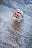 Smarties in a jar Stock Images