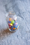 Smarties in a jar Stock Photography