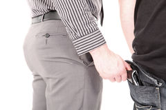Pickpocket stealing a wallet Stock Images