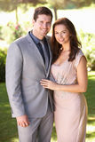 Smartly Dressed Young couple in park Royalty Free Stock Photo