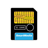 Smartmedia-color. Memory cards for digital cameras Stock Image