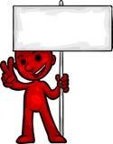 Smartoon Holding Sign Stock Photos
