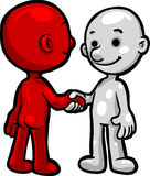 Smartoons Shaking Hands. Vector, Clip Art illustration of Smartoons shaking hands in agreement . Hand drawn artwork in a loose, expressive style, with NO Stock Photography