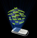 Smartphone功能 皇族释放例证