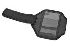 smartphone或MP3播放器的连续臂章 免版税库存图片