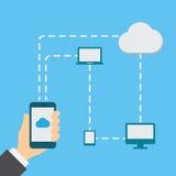 Smartphone à disposição imagens de stock royalty free