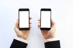 Smartphone à disposition Photos libres de droits