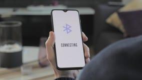 Smartphone łączy bluetooth zbiory
