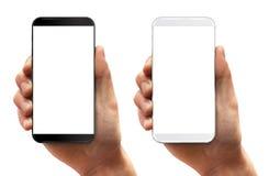 Smartphone εκμετάλλευσης χεριών ατόμων Στοκ Εικόνες