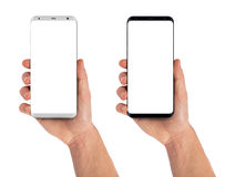 Smartphone εκμετάλλευσης χεριών ατόμων Στοκ φωτογραφία με δικαίωμα ελεύθερης χρήσης