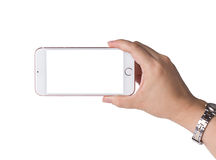 Smartphone εκμετάλλευσης χεριών γυναικών Στοκ φωτογραφία με δικαίωμα ελεύθερης χρήσης