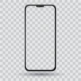 Smartphone με μια διαφανή οθόνη στοκ εικόνες